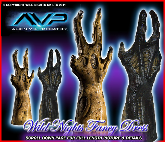 Fancy Dress Avp Predalien Hybrid Predator Adult Gloves