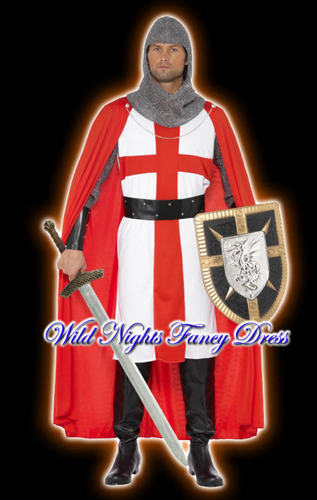 Fancy Dress Costume England Crusader St George M L