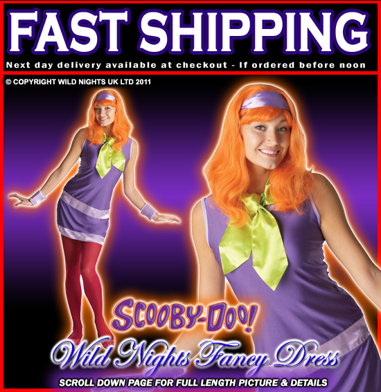 FANCY DRESS COSTUME SCOOBY DOO DAPHNE SMALL 8-10