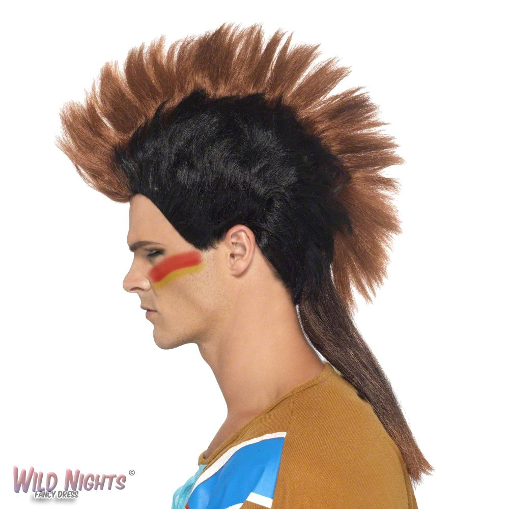 FANCY DRESS WIG MENS WILD WEST COWBOY