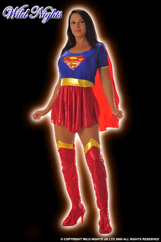 Superman Fancy Dress Costume Quality Supergirl Small