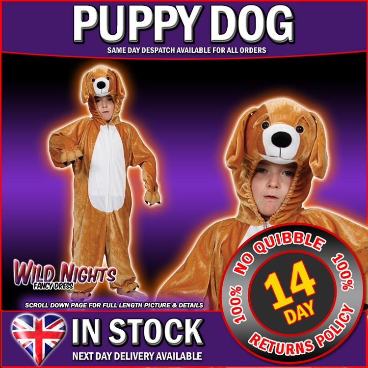 Childs Animal Costume Kids Fancy Dress Boys Girls Onesie Puppy  sc 1 st  Kids & dog onesies for kids | Kids