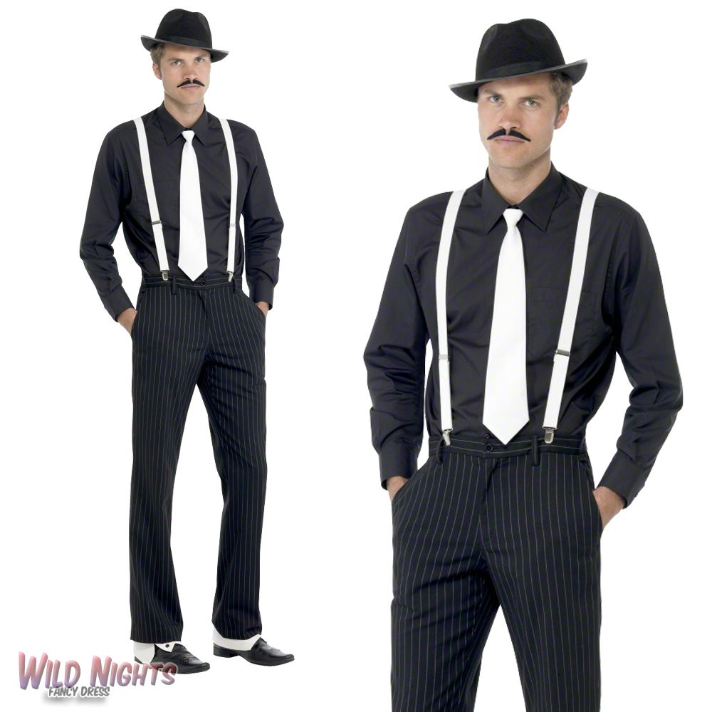Fancy Dress Accessory Mens 1920 S Gangster Instant Dress