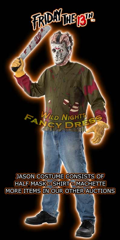 Halloween Costume Jason Friday 13th.Jason Voorhees Friday The 13th Halloween Costume M L