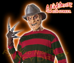 NIGHTMARE ON ELM ST FREDDY KRUEGER MASK/HAT/GLOVE/SHIRT